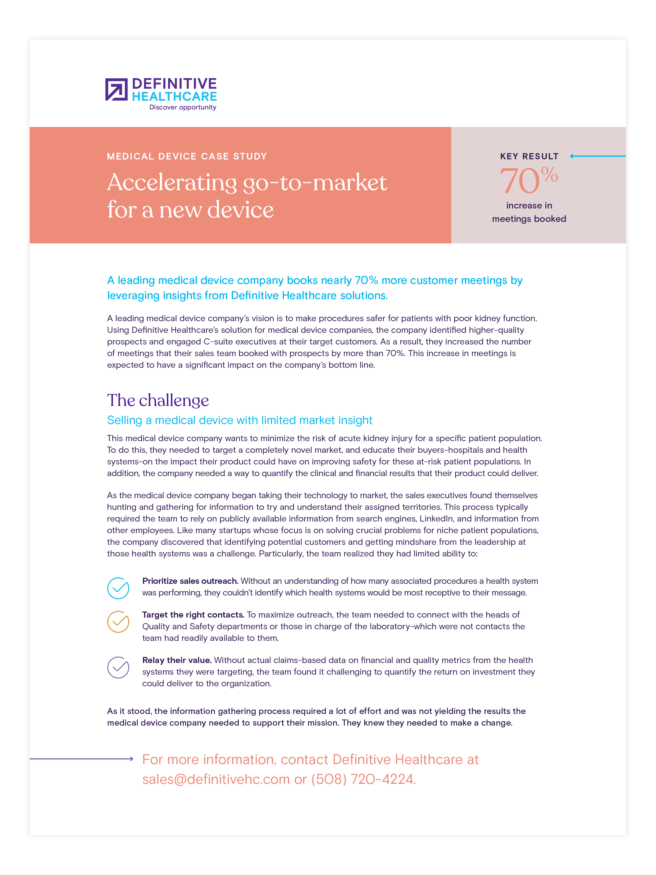 Case study - Accelerating go-to-market for a new device